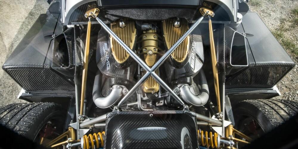 MOTOR: 5980 ccm V12 AMG twintrubo med 740 hk ved 5000 omdreininger og 1000 Nm ved 35000 omdreininger. FOTO: James Lipman
