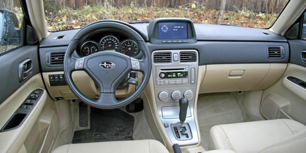 BRA FACELIFT: Fra årsmodell 2006 fikk Subaru Forester et designmessig løft både inn- og utvendig.