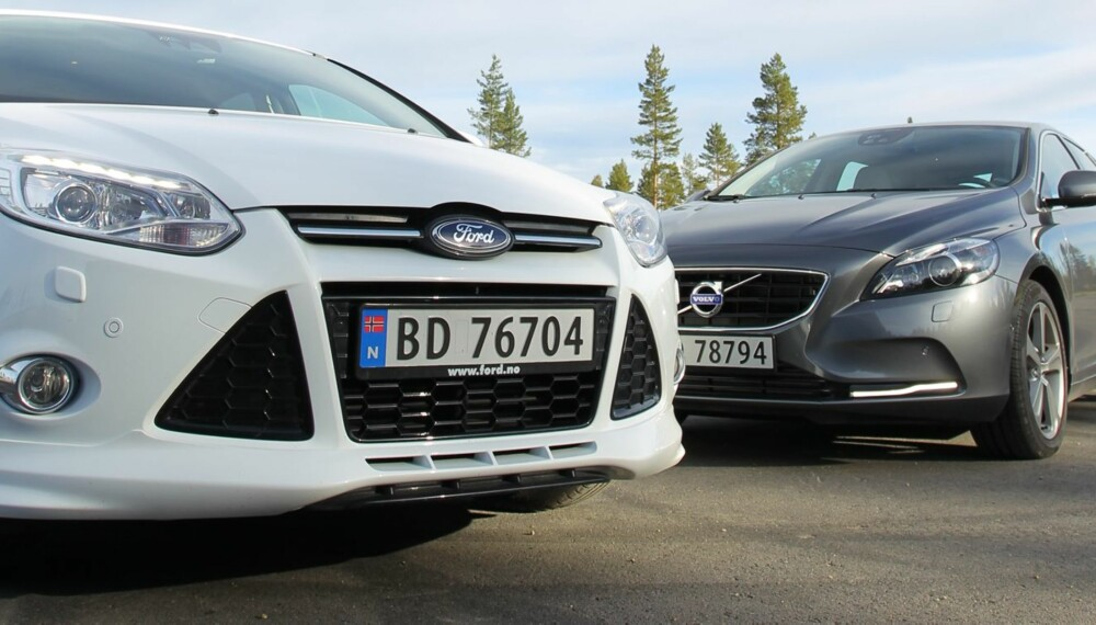 DUELL: Vi har testet Volvos nye storsatsing V40 opp mot stebror Focus, Fords absolutte bestselger.
