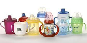 TEST AV TUTEKOPP: Våre seks familier testet ni drikkekopper hver.