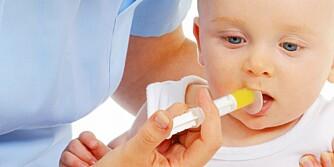 SISTE UTVEI: Spesialsprøyte for munnen fås på apoteket og kan være løsningen for å få gitt flytende medisiner til barn.