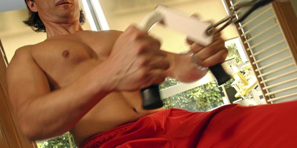 MUSKLER: Om menn reduserer fettet, vil de gjerne beholde muskelmassen. Det er et sunt utgangspunkt for å gå ned i vekt.