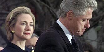 AVSLØRT: Bill Clinton hevdet hardnakket at han ikke hadde hatt noen affære med Monika Lewinsky. Noen forskere mener at såkalte mikrouttrykk avslørte den tidligere presidenten.