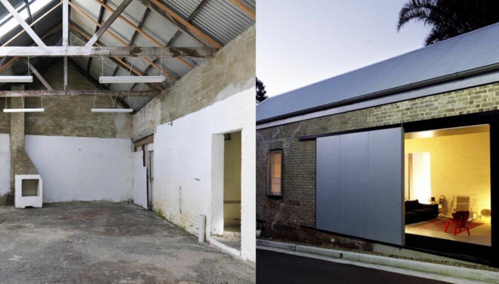 BOR I ET SKUR: I en sliten bakgate i Sydney fikk en familie hjelp til å lage drømmehjemmet av et gammelt skur.