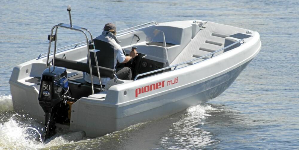 POLYETYLEN: Selv om glassfiber er det vanligste, er rotasjonsstøpte båter også et godt alternativ