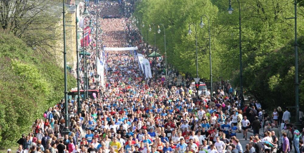 10 KILOMETER: I 2011 løp rundt 8000 deltagere den 10 km lange løypa i Sentrumsløpet.