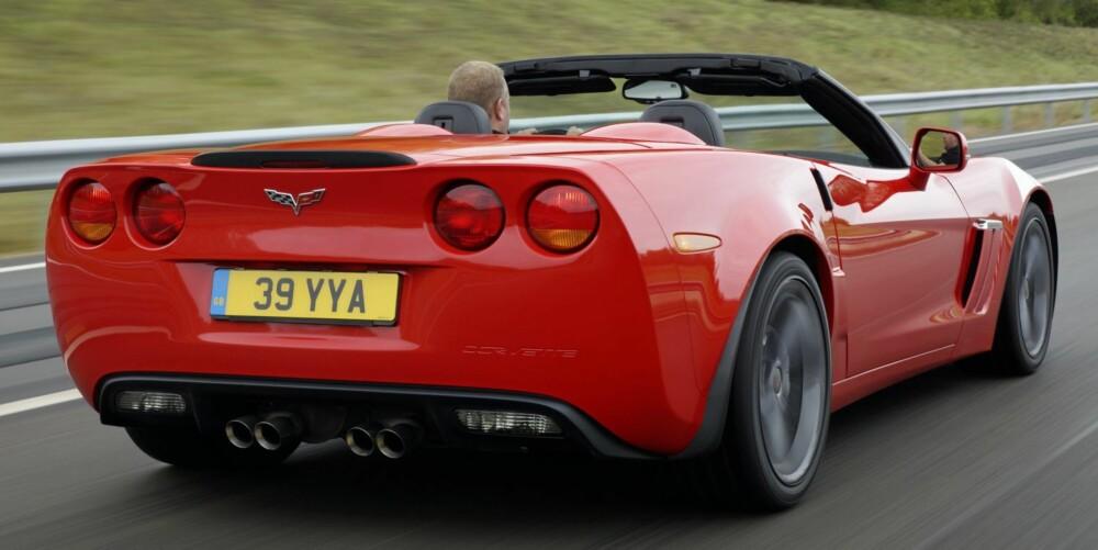 LITT HVASSERE: Grand Sport er, i bunn og grunn, en kraftigere versjon av grunnversjonen Corvette C6. Foto: GM
