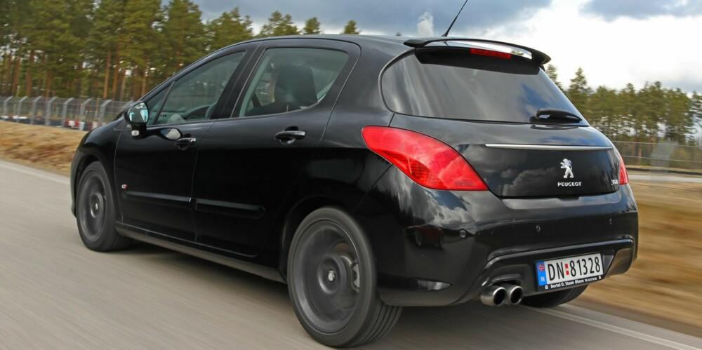 ULVEN: En GTI av klasse fra Peugeot, selv om designen ikke akkurat skriker ut GTI: Foto: Petter Handeland