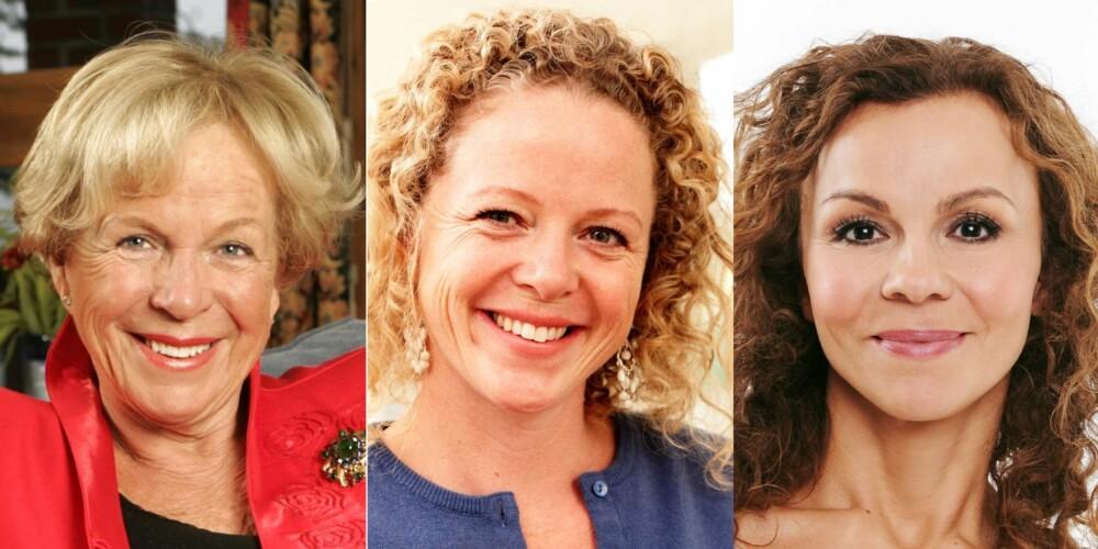 MAT OG MOSJON: F.v. Grete Roede, Jeanette Roede og Kari Jaquesson er enige: Mindre mat og mer mosjon gir en slankere figur.