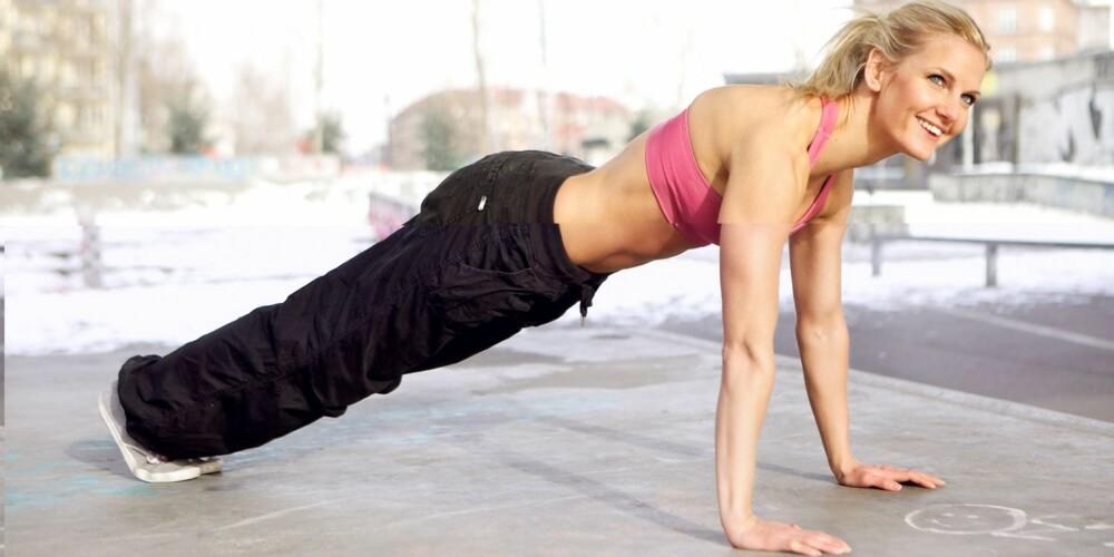 LITT DRAHJELP: Føler du at fremgangen har stoppet opp på trening? Da kan litt kreatin hjelpe på muskelveksten.