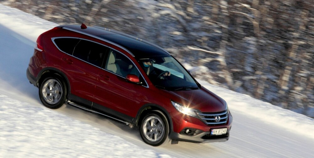 KOMFORT: Honda CR-V er den mest komfortorienterte av SUV-ene.