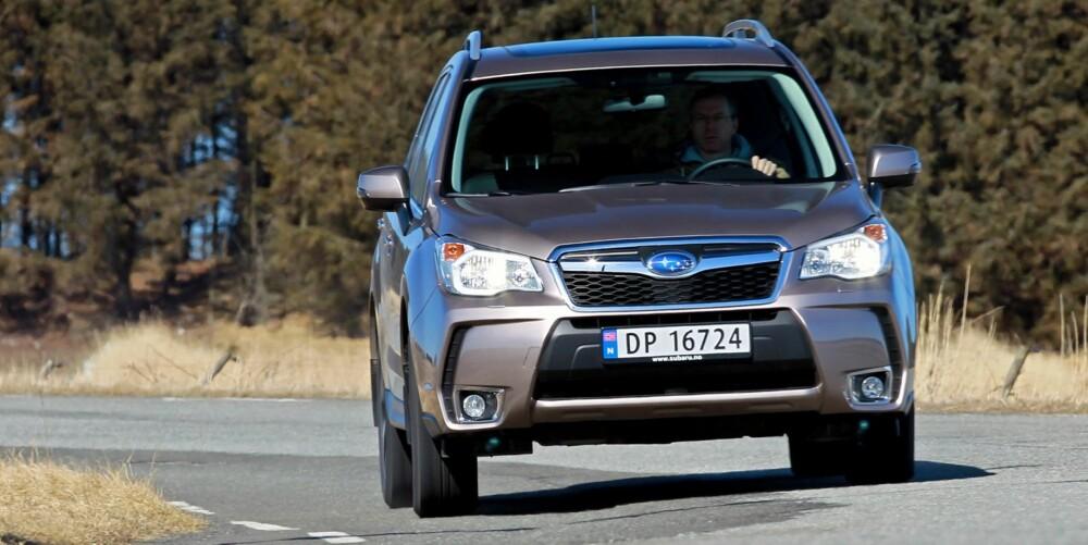 SOLID: Subaru Forester har det beste firehjulsdriftsystemet og et understell som tåler mye. FOTO: Petter Handeland