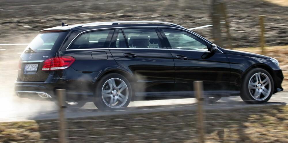 VÅRT VALG: Mercedes E-klasse er vårt knepne valg. FOTO: Terje Bjørnsen