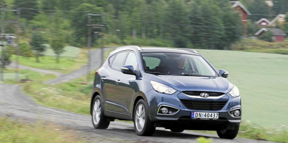 KJØREGLAD: Hyundai ix35 er blant de mest kjøreglade SUV-ene på markedet.