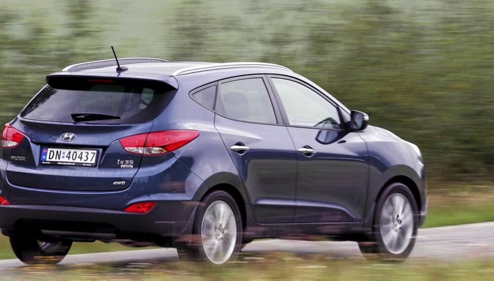 TRIVELIG: Hyundai ix35 er på nesten alle måter en ordentlig trivelig bil.