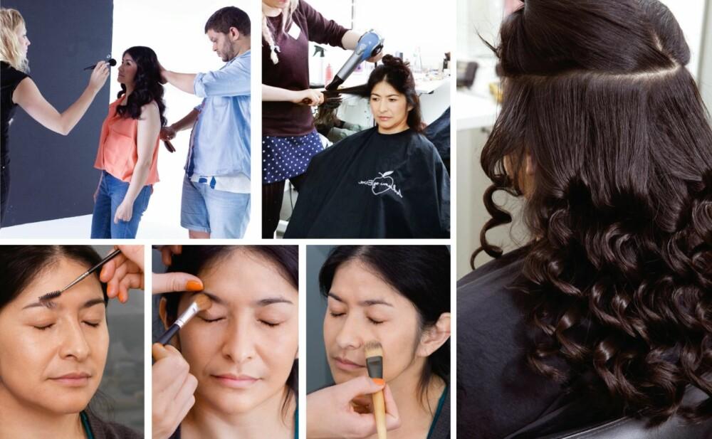 HÅR OG MAKEUP: Tomiko ville beholde det lange håret, men hun har fått det klippet opp rundt ansiktet, noe som gir en mykere innstramming. Øyenbrynene ble børstet på plass. En highlighter rett under brynet bidrar til å åpne blikket. Pudderet påføres med pensel for et perfekt resultat.
