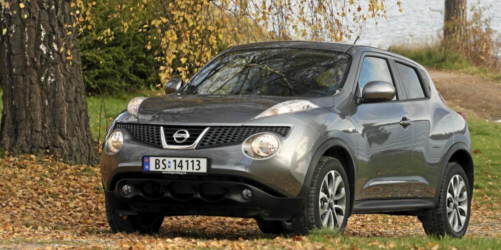 ANNERLEDES: Nissan Juke har et utseende som skiller seg fra mengden.