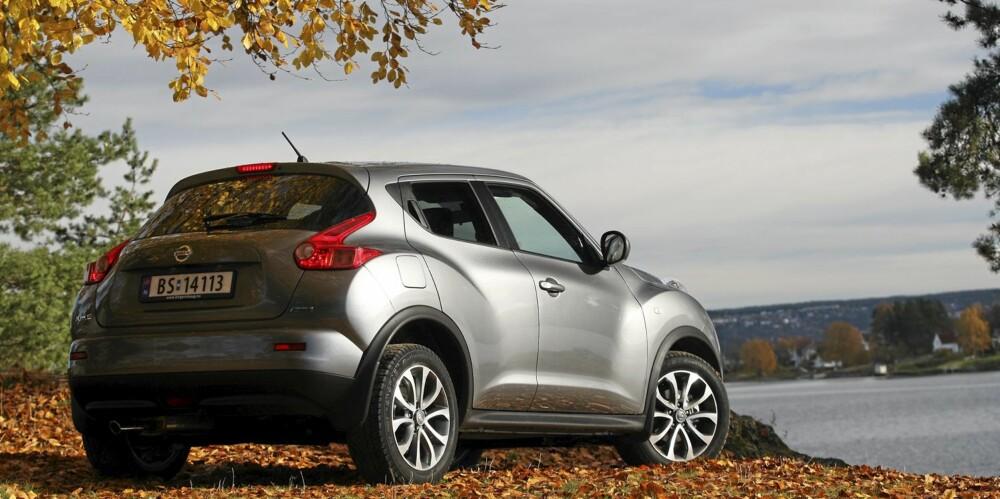 BARSK: Nissan Juke har mange morsomme, annerledes og barske former. Vi liker den, selv om den er mer særegen enn direkte vakker.