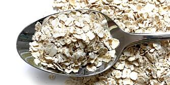 KORN: Havregryn er blant kornsortene som har godt proteininnhold.