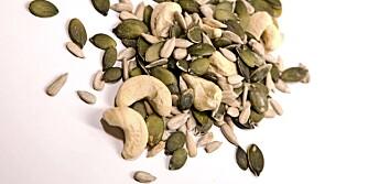 NØTTER: Frø og nøtter er gode proteinkilder.