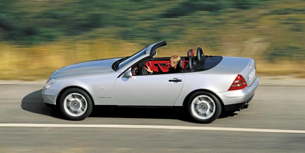 FØRSTE VERSJON: Finner du en pent brukt SLK av første generasjon, står en hyggelig roadsteropplevelse for døren.