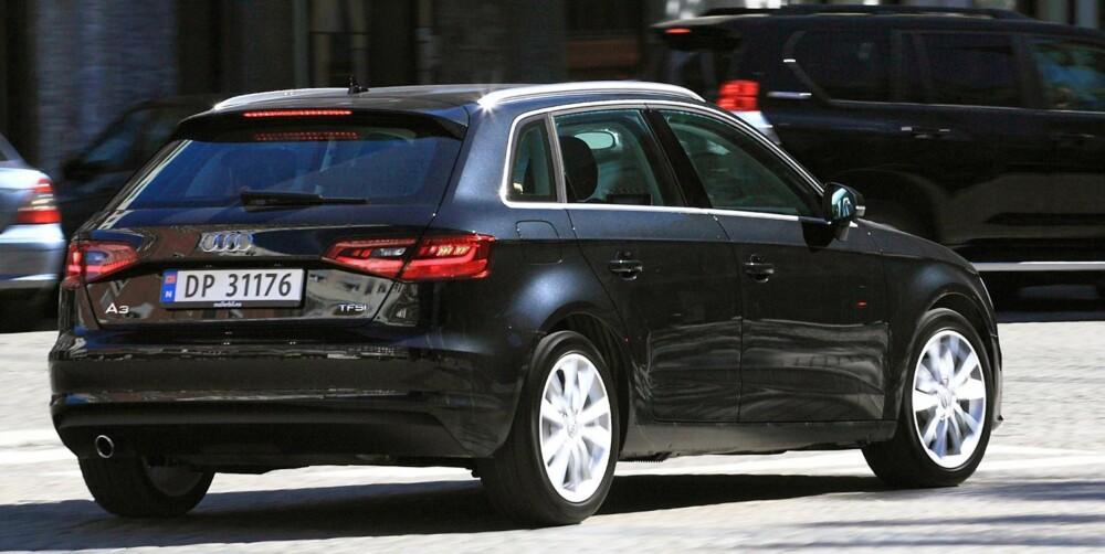KVIKK: Audi A3 Sportback har svært presis styring. Med liten motor er vekta relativt lav, og det bidrar til at bilen føles kjapp og hendig i svingene. FOTO: Egil Nordlien, HM Foto