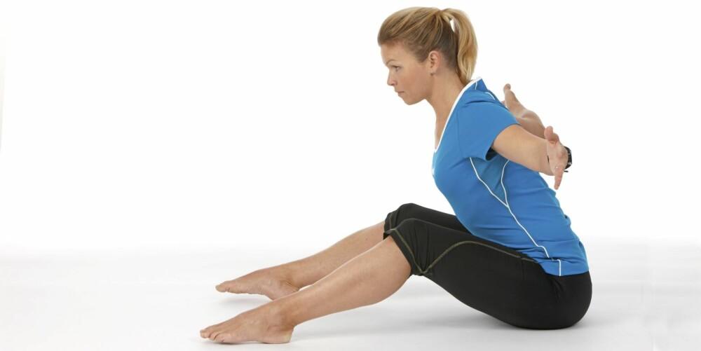 KNIPE SKULDERBLAD: Trener øvre del av ryggen.