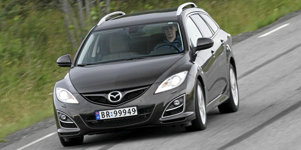 SPORTSLIG: Kjøreegenskapene hører med blant Mazda 6' gode sider.
