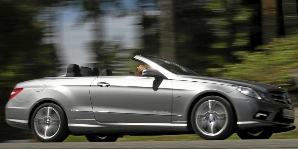 SEIG: Turbomotoren gir E-Cabriolet respektable ytelser, men kunne vært gjerrigere på forbruket.