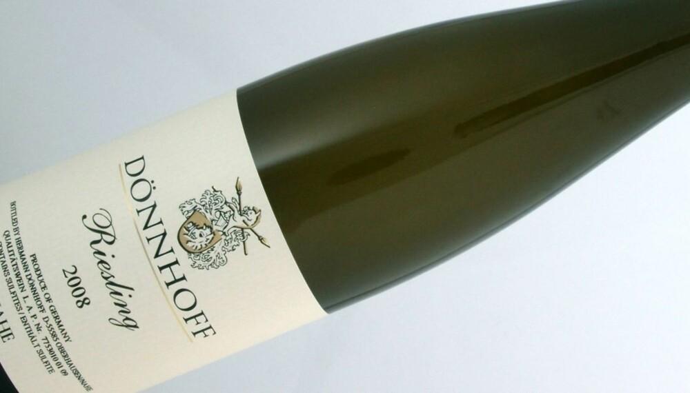 HALVTØRR: Dönnhoff Riesling er en halvtørr hvitvin fra Nahe i Tyskland.