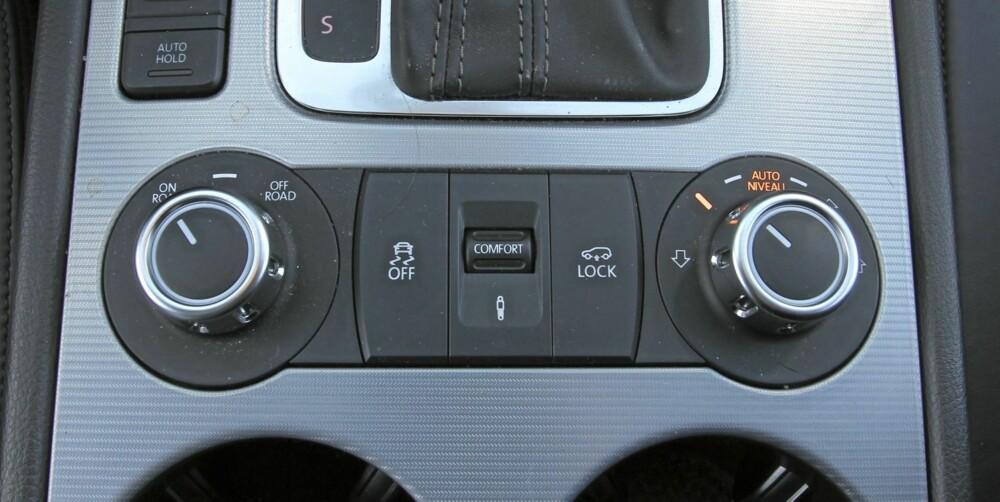 LUFTFJÆRING: Variabel bakkeklaring og ulike fjæringsoppsett gjør VW Touareg til en allsidig SUV.