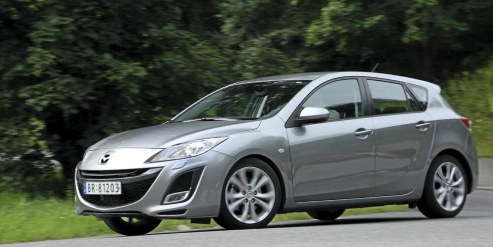 TØFF: Med Sport-utstyrspakken får Mazda 3 enda tøffere utseende, pluss viktig utstyr innvendig.