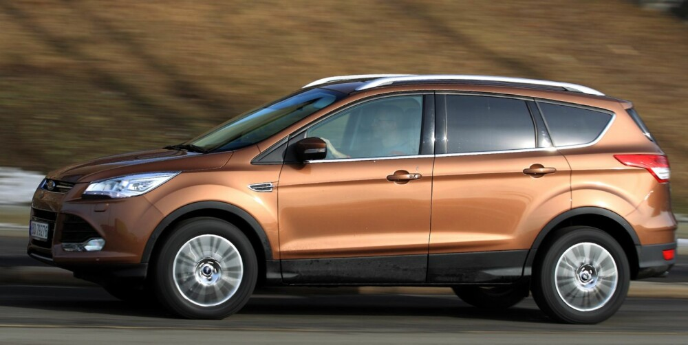 LENGRE: Ford Kuga har vokst 8 cm i lengden fra den forrige modellen. FOTO: Egil Nordlien, HM Foto