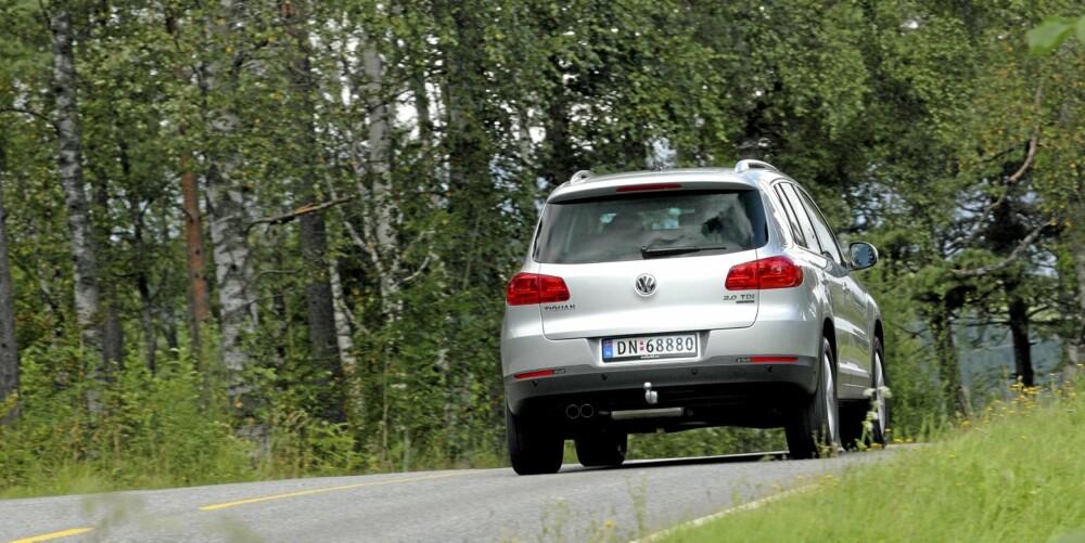 GODE KJØREEGENSKAPER: Tigaun har trygge, forutsigbare og gode kjøreegenskaper, men er mer komfortabel enn sportslig.