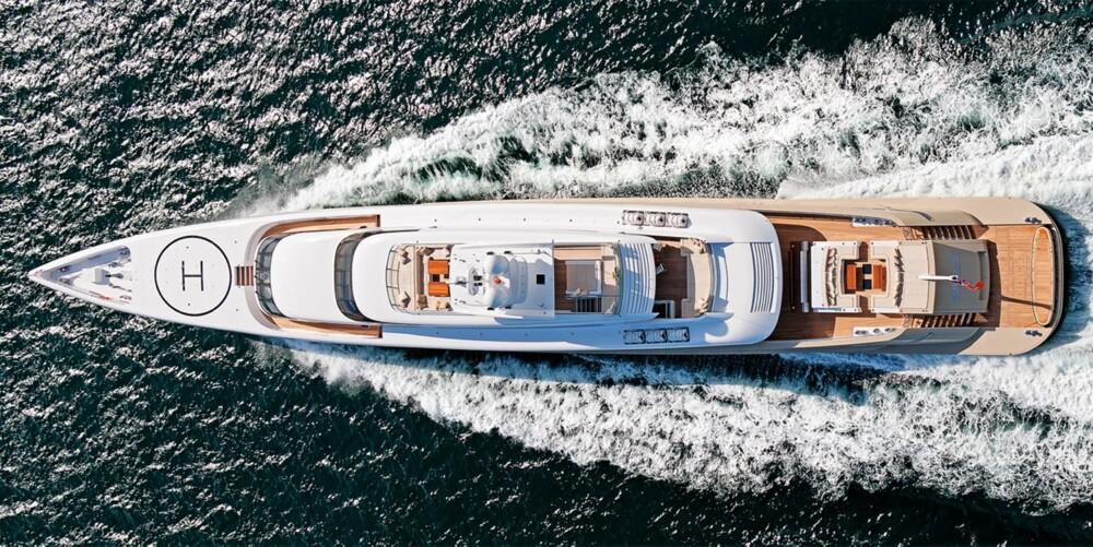STORSLAGENTT: 77 (252 fot) meter lange Smeralda er den tredje yachten i Silveryachts-serien.