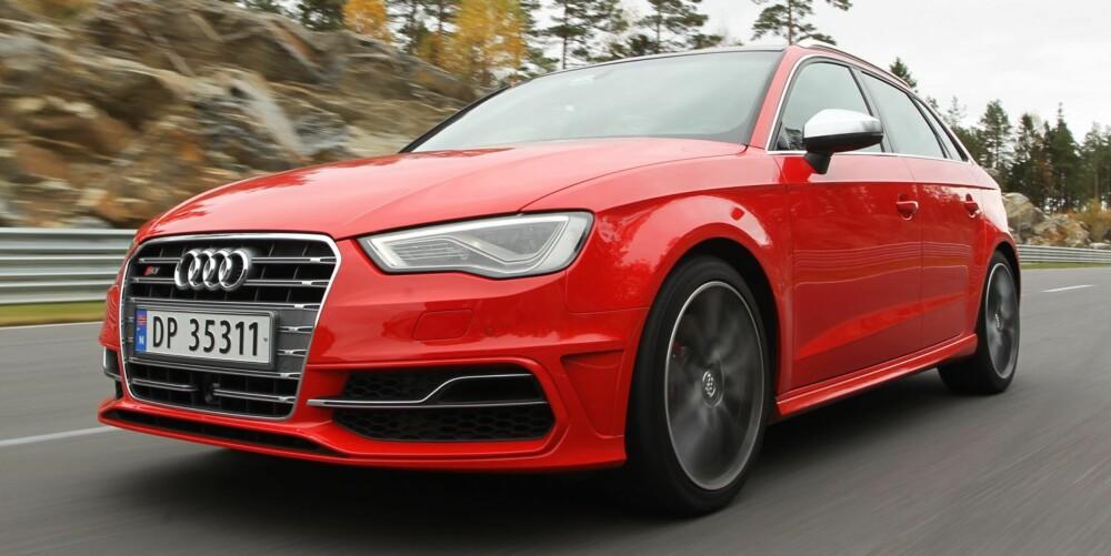 RUDSKOGEN: På Rudskogen får Audi S3 vist hva den har i seg. På vanlig landevei må man derimot temme lysten til å utnytte bilens fartsressurser. FOTO: Petter Handeland