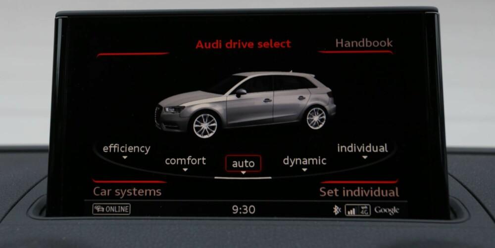 OPPSETT: S3 kan innstilles etter behov. Med noen trykk i menysystemet endres karakteren på bilen. FOTO: Terje Bjørnsen