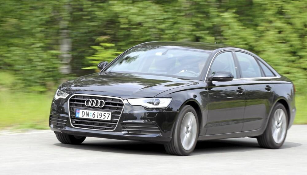 STIL: Audi A6 har den nødvendige storbil-pondusen både i egenskaper og utseende.