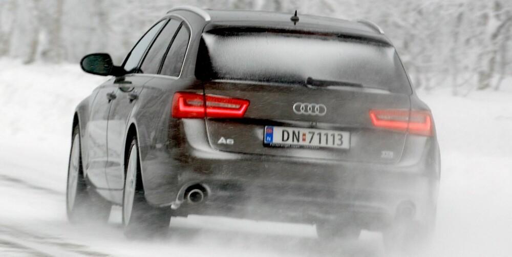 SPORTY: En A6 med det rette tilleggsutstyret er betydelig mer sportslig enn en E-klasse.