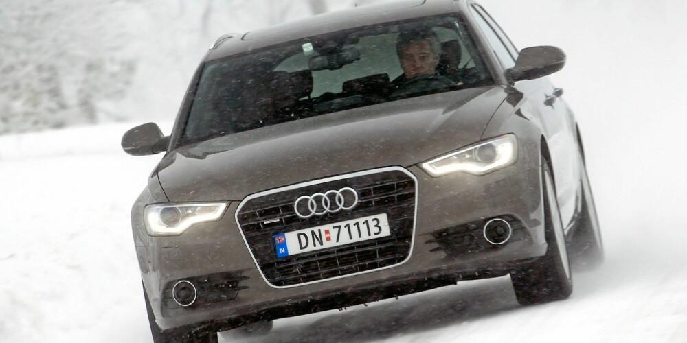 GODT SKJULT: Audien er faktisk bitte litt bredere enn Mercedesen, men det har designerne skjult godt.
