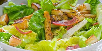 SALAT: En salat bestående av hvit pasta og fet dressing er ikke lenger så sunn som du kanskje trodde at den var. ILLUSTRASJONSFOTO: Colourbox