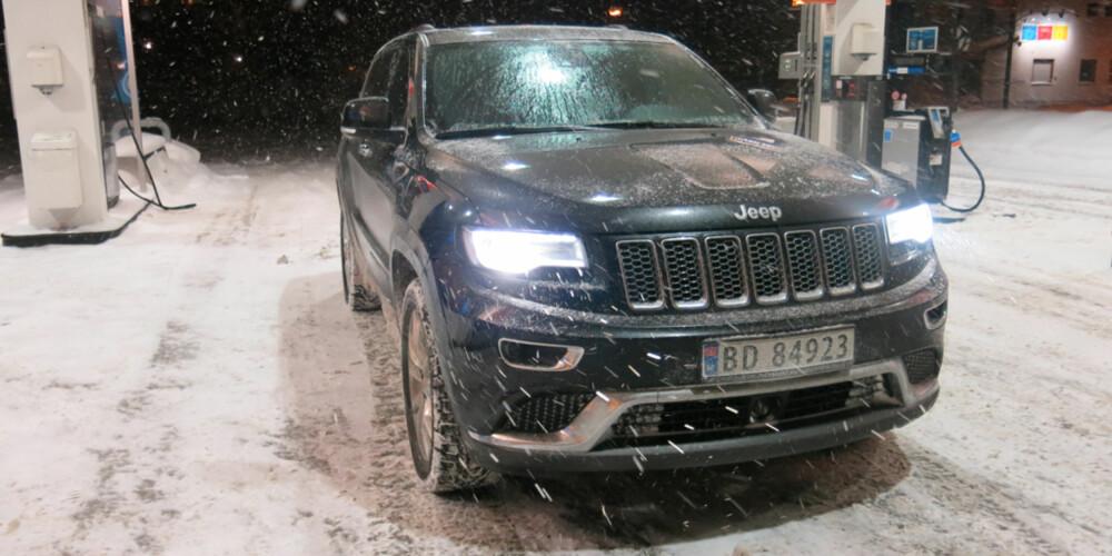 BARSKING: Jeep Grand Cherokee Summit-utgave. Snart kan du lese full test av bilen på klikk.no. FOTO: Martin Jansen