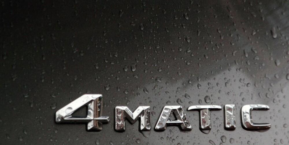 FLERTYDIG: Navnet er det samme, men funksjonsmåten for 4Matic er annerledes i Mercedes' kompakte modeller. FOTO: Egil Nordlien, HM Foto