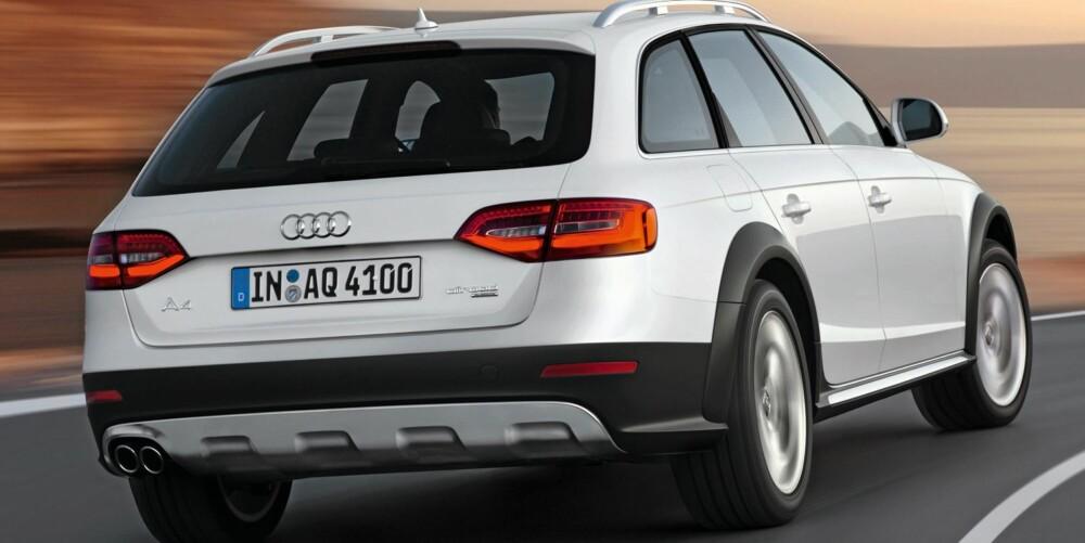 BARSK: Skliplater og fete gummilister hører selvsagt med på en Allroad. Foto: Audi