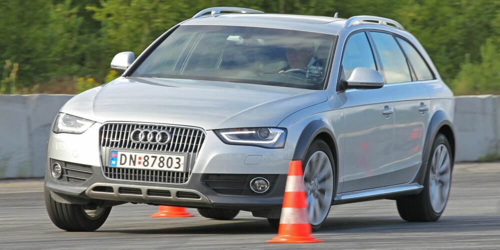 SPORTY: Audi A4 Allroad har de mest sportslige kjøreegenskapene. FOTO: Petter Handeland