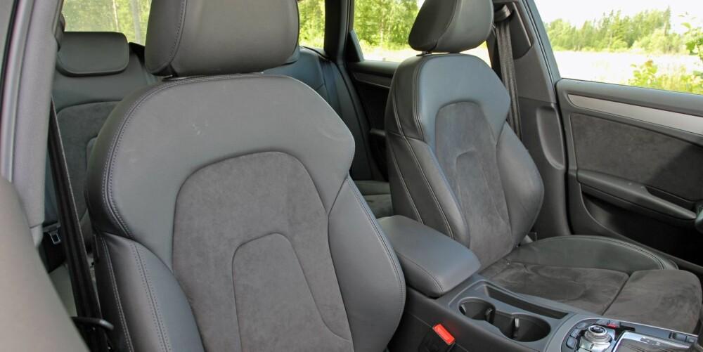 PREMIUM: Interiøret i Audi-en gir høy kvalitetsfølelse. FOTO: Petter Handeland