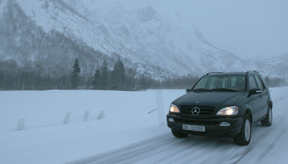 På tøffe norske vinterveier er Mercedes ML i sitt ess