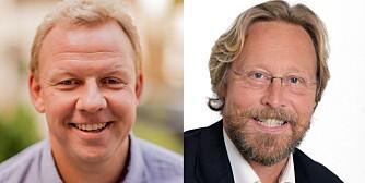 """HJELPER DEG: T.v. organisasjonspsykolog og forfatter av boken """"Tidsinnstilt"""", Morten Müller-Nilssen. T.h. organisasjonspsykolog Jan Christophersen."""