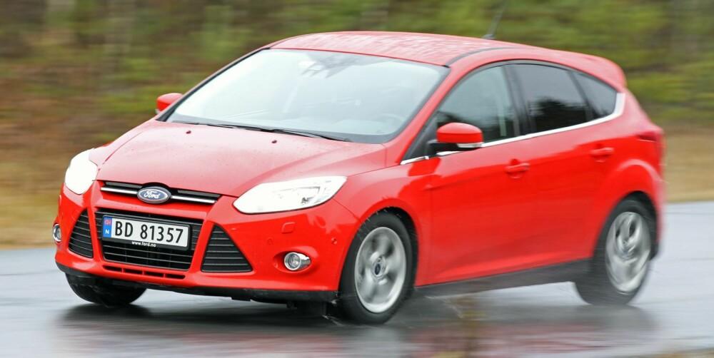 GJERRIGST: Det er nesten ikke til å tro at Ford Focus har en tresylindret motor på bare 1,0 liter. Den tøffer av gårde uten å mukke på svært lave turtall, er raskest og bruker minst drivstoff.