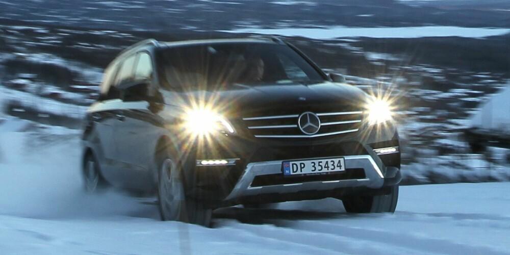 STØYER MINST: Det minst støy i Mercedes ML, som er best av SUV-ene når det gjelder komfort. FOTO: Petter Handeland